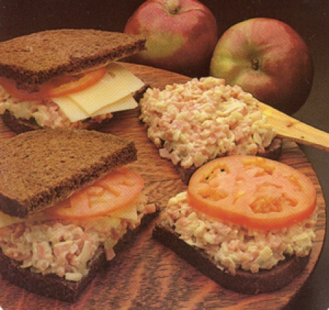 Hamapple and Cheese Sandwich