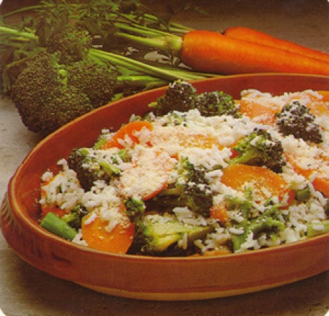 Rice with Carrots & Broccoli