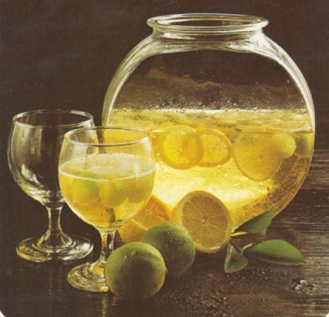 Wine Cooler with Lemon & Melon