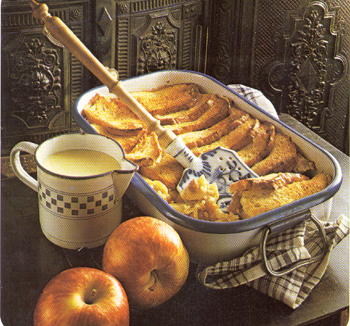 Swedish Apple Bread Pudding