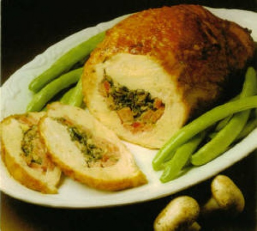 Ham-Stuffed Turkey Breast