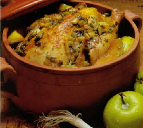 Cider-Cooked Chicken