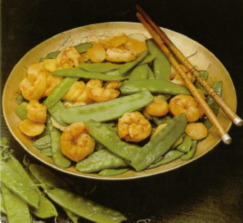 Stir-Fried Shrimp and Pea Pods