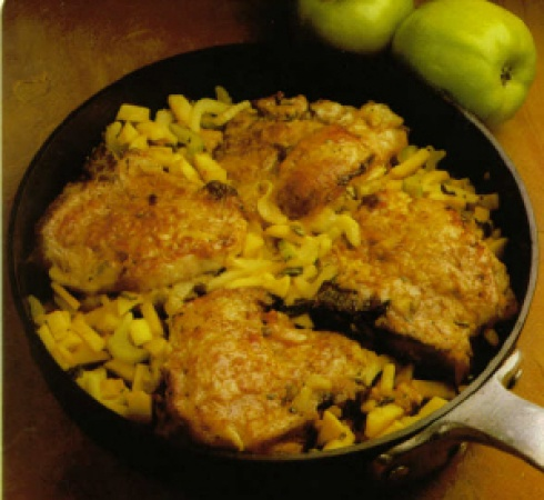 Apple-Sage Stuffed Pork Chops