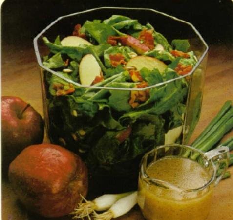 Bacon, Apple, Spinach Salad