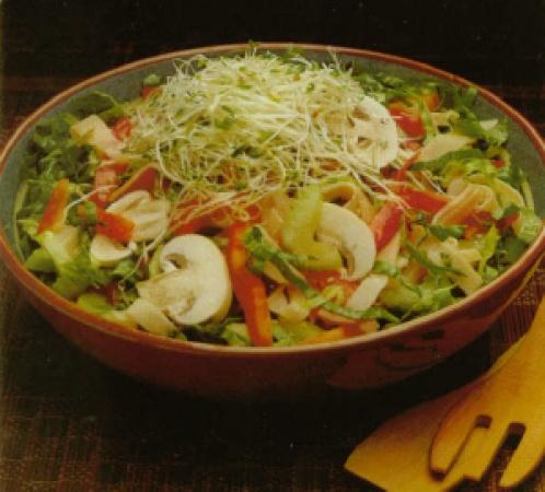Turkey, Lettuce & Mushroom Salad